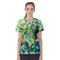 Pixel Pattern A Completely Seamless Background Design Women s Sport Mesh Tee by Nexatart
