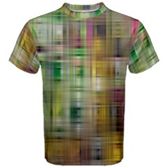 Woven Colorful Abstract Background Of A Tight Weave Pattern Men s Cotton Tee