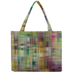 Woven Colorful Abstract Background Of A Tight Weave Pattern Mini Tote Bag by Nexatart