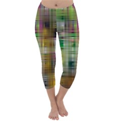 Woven Colorful Abstract Background Of A Tight Weave Pattern Capri Winter Leggings
