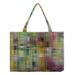 Woven Colorful Abstract Background Of A Tight Weave Pattern Medium Tote Bag by Nexatart
