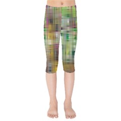 Woven Colorful Abstract Background Of A Tight Weave Pattern Kids  Capri Leggings  by Nexatart