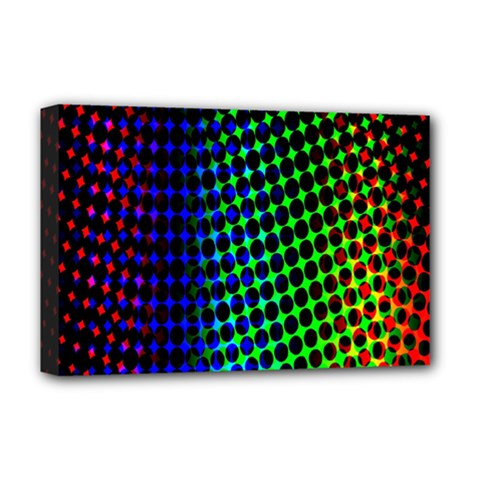 Digitally Created Halftone Dots Abstract Deluxe Canvas 18  X 12   by Nexatart