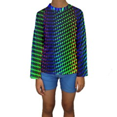Digitally Created Halftone Dots Abstract Kids  Long Sleeve Swimwear by Nexatart