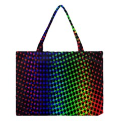 Digitally Created Halftone Dots Abstract Medium Tote Bag by Nexatart