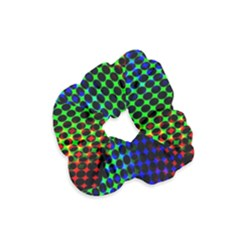 Digitally Created Halftone Dots Abstract Velvet Scrunchie