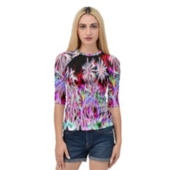 Fractal Fireworks Display Pattern Quarter Sleeve Tee by Nexatart