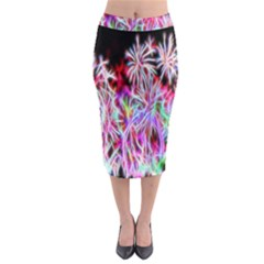Fractal Fireworks Display Pattern Midi Pencil Skirt by Nexatart