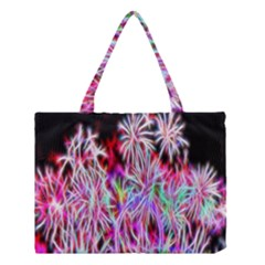 Fractal Fireworks Display Pattern Medium Tote Bag