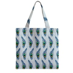 Background Of Beautiful Peacock Feathers Grocery Tote Bag by Nexatart