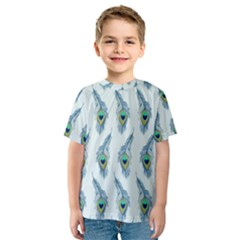 Background Of Beautiful Peacock Feathers Kids  Sport Mesh Tee