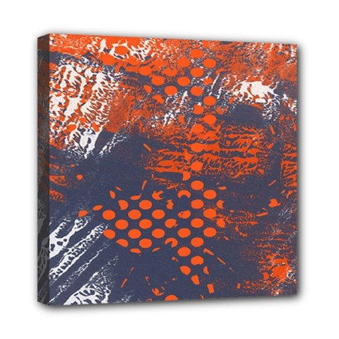 Dark Blue Red And White Messy Background Mini Canvas 8  X 8  by Nexatart