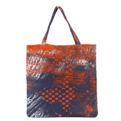 Dark Blue Red And White Messy Background Grocery Tote Bag