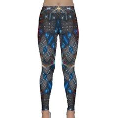 Fancy Fractal Pattern Background Accented With Pretty Colors Classic Yoga Leggings