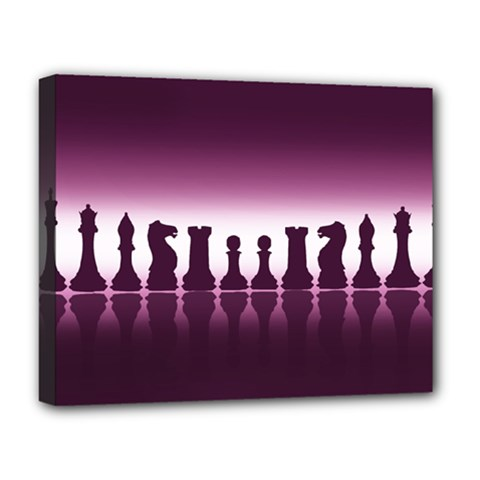 Chess Pieces Deluxe Canvas 20  X 16   by Valentinaart
