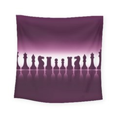 Chess Pieces Square Tapestry (small) by Valentinaart