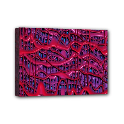 Plastic Mattress Background Mini Canvas 7  X 5  by Nexatart