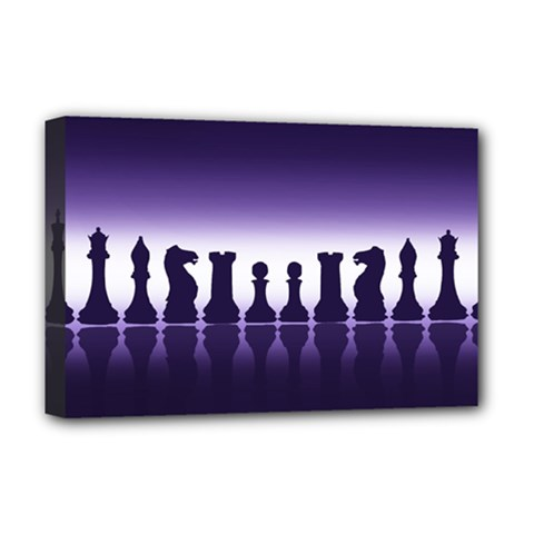 Chess Pieces Deluxe Canvas 18  X 12