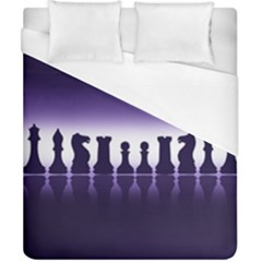 Chess Pieces Duvet Cover (california King Size)