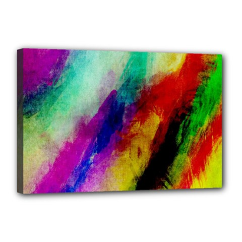 Colorful Abstract Paint Splats Background Canvas 18  X 12