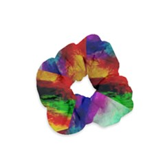 Colorful Abstract Paint Splats Background Velvet Scrunchie