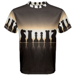 Chess Pieces Men s Cotton Tee