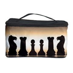 Chess Pieces Cosmetic Storage Case by Valentinaart