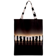 Chess Pieces Zipper Classic Tote Bag by Valentinaart
