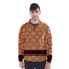 Floral Seamless Pattern Vector Wind Breaker (men)