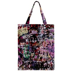 Graffiti Wall Pattern Background Zipper Classic Tote Bag by Nexatart