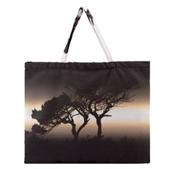 Sunset Zipper Large Tote Bag by Valentinaart