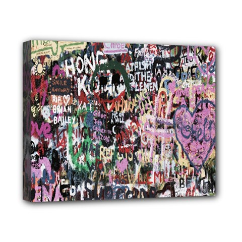 Graffiti Wall Pattern Background Canvas 10  X 8  by Nexatart