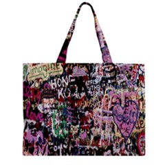 Graffiti Wall Pattern Background Mini Tote Bag by Nexatart