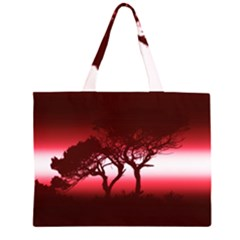 Sunset Zipper Large Tote Bag