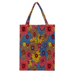 Background With Multi Color Floral Pattern Classic Tote Bag by Nexatart