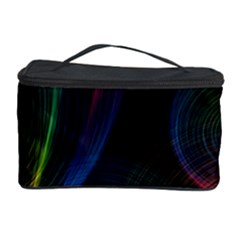 Abstract Rainbow Twirls Cosmetic Storage Case by Nexatart