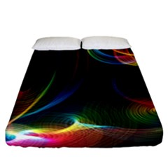Abstract Rainbow Twirls Fitted Sheet (california King Size) by Nexatart