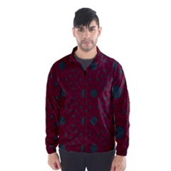 Blue Hot Pink Pattern With Woody Circles Wind Breaker (men)
