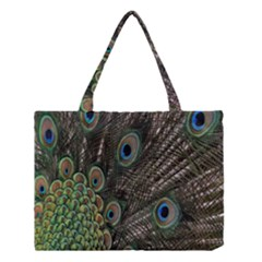 Close Up Of Peacock Feathers Medium Tote Bag by Nexatart