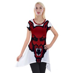 Dracula Short Sleeve Side Drop Tunic