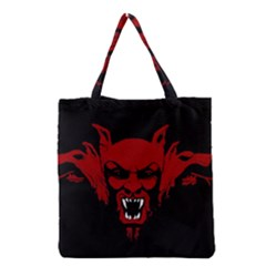 Dracula Grocery Tote Bag by Valentinaart