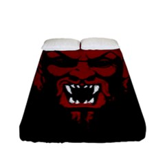 Dracula Fitted Sheet (full/ Double Size) by Valentinaart