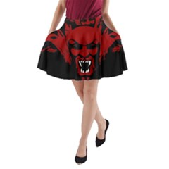 Dracula A Line Pocket Skirt by Valentinaart