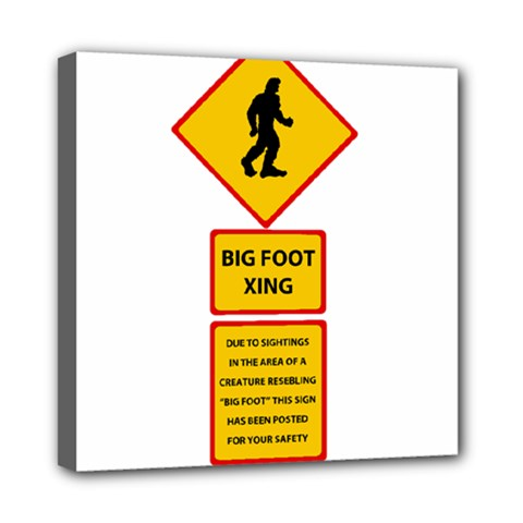 Bigfoot Mini Canvas 8  X 8  by Valentinaart