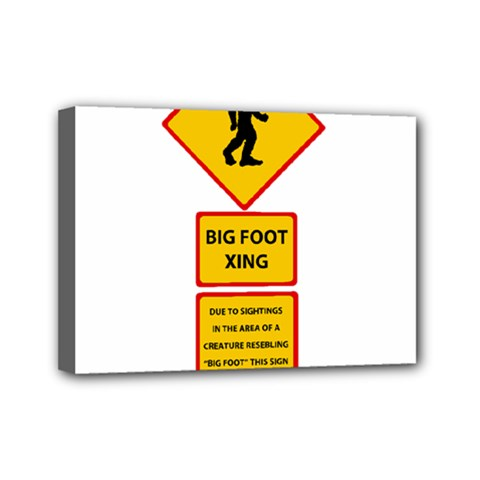 Bigfoot Mini Canvas 7  X 5  by Valentinaart