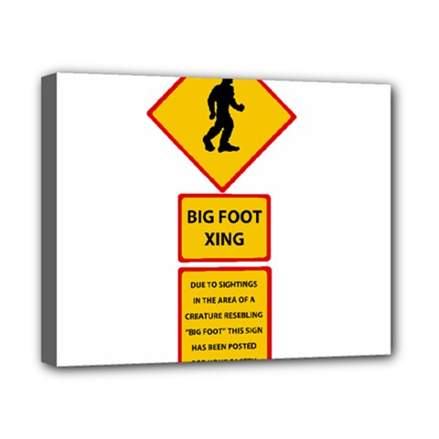 Bigfoot Canvas 10  X 8  by Valentinaart