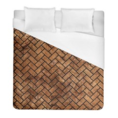 Brick2 Black Marble & Brown Stone (r) Duvet Cover (full/ Double Size) by trendistuff