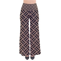Woven2 Black Marble & Brown Colored Pencil (r) So Vintage Palazzo Pants by trendistuff