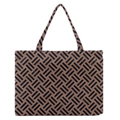 Woven2 Black Marble & Brown Colored Pencil (r) Medium Zipper Tote Bag by trendistuff
