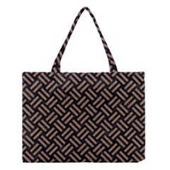 Woven2 Black Marble & Brown Colored Pencil Medium Tote Bag by trendistuff